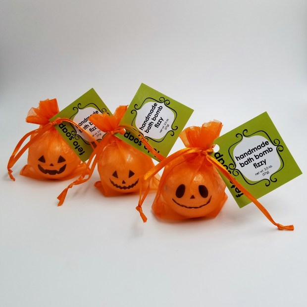 pumpkin bath bombs