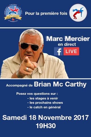 Marc Mercier en direct sur Facebook