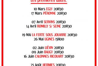 Les première villes de la tournée F.F.C.P. 2018