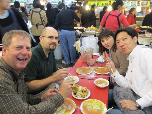 Dining at the Shihlin Night Market