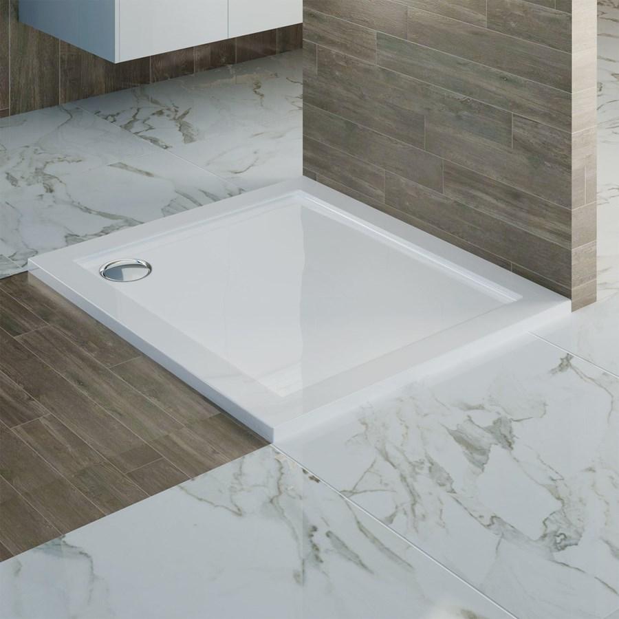 Piatto doccia marmo resina rettangolare h con piletta