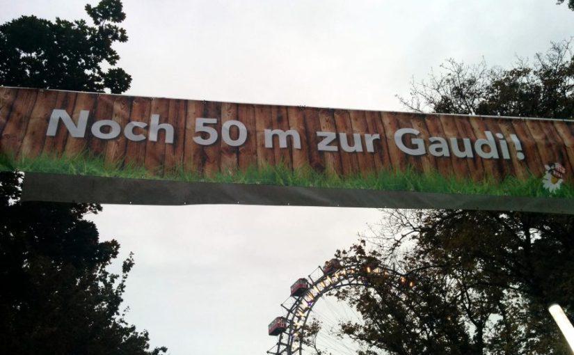 Noch 50 Meter zur Gaudi