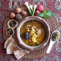 Abgoosht | Persian Lamb Soup with Chickpeas & White Beans