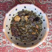 Khoresh Aloo Esfenaj | Persian Spinach & Prune Stew