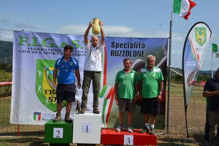 """CAT. """"C"""" INDIVIDUALE CAMPIONE ITALIANO - VALISI CORINTO (BO) 2° CLAS. BOCCHINI ALESSANDRO (PG) 3° CLAS. GUALMINI LUIGI (MO) 3° CLAS. LUPPI PATRIZIO (MO)"""