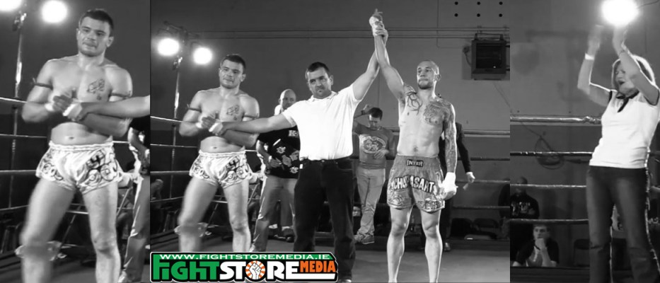 And New: Paul Norton lifts the ISKA 67kg title at Warriors FC V