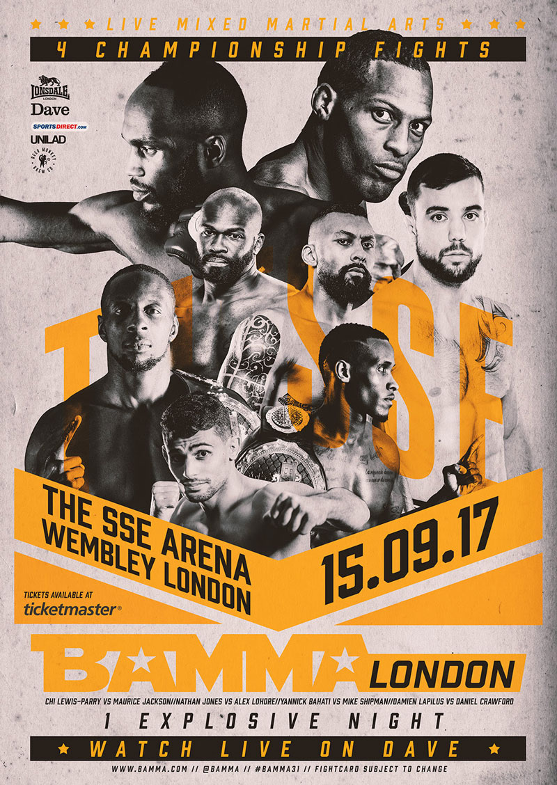BAMMA LONDON Fight Card