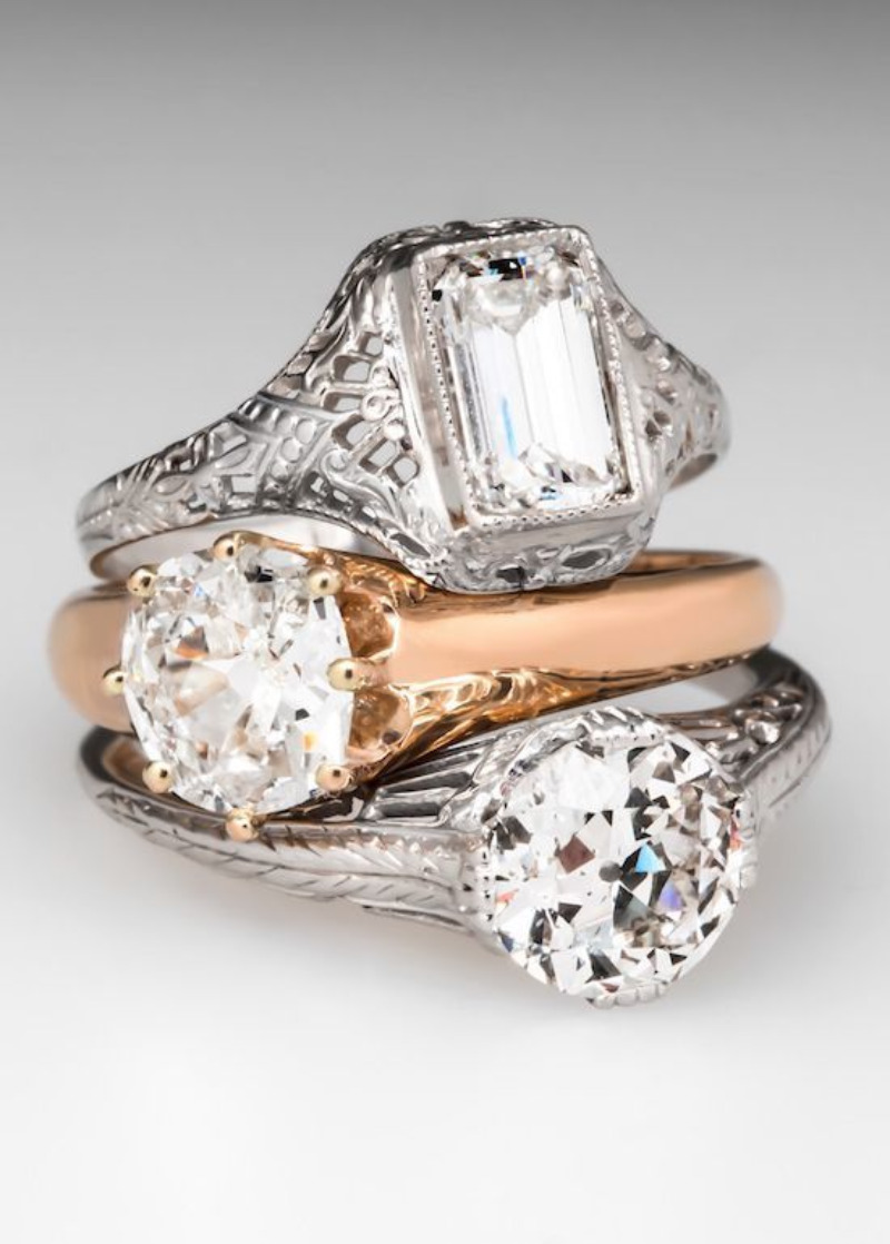 trending 63 vintage engagement rings from eragem l 28 l 22 vintage wedding rings Vintage Engagement Rings From EraGem