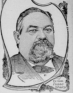 Portrait of Isaac Sharp of Council Grove, Kansas.