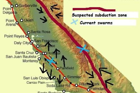 Map Of The San Andreas Fault Line - Us fault map