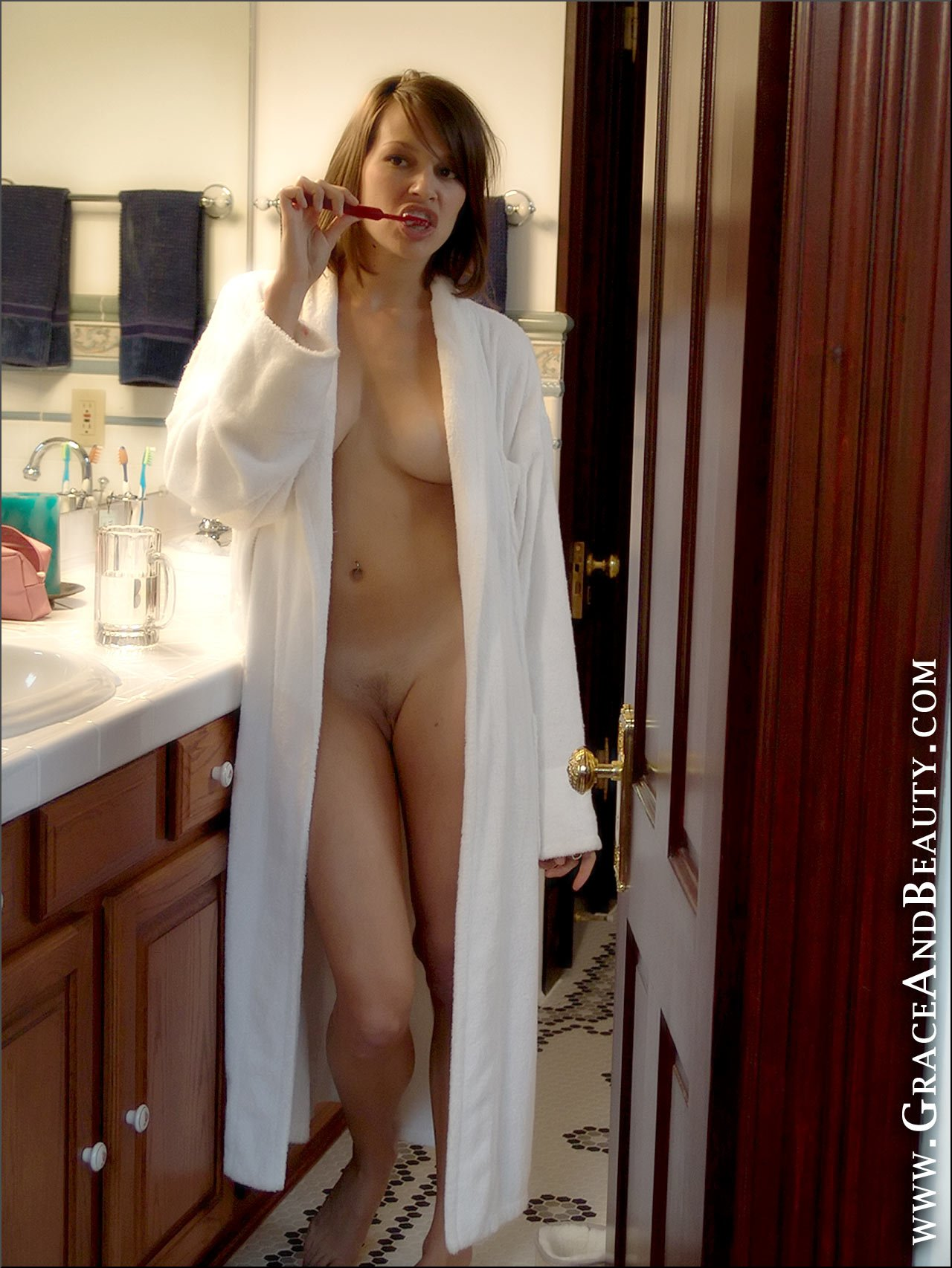 naked mature red robe