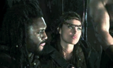 Alina Puscau Nonso Anozie Conan 2011 Set Photo 01