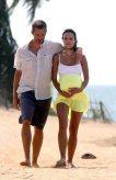 Fast Five, 2011, Paul Walker, Jordana Brewster, beach, pregnant, 01
