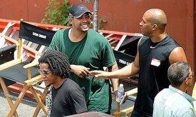 Fast Five, 2011, Vin Diesel, Don Omar, Tego Calderon, shaking hands, 01