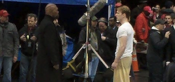 Chris Evans, Samuel L. Jackson, Captain America: The First Avenger, New York City Set, 03