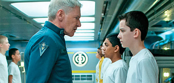 Asa Butterfield Harrison Ford Ender's Game Entertainment Weekly