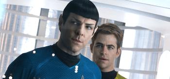 Zachary Quinto Chris Pine Star Trek Into Darkness