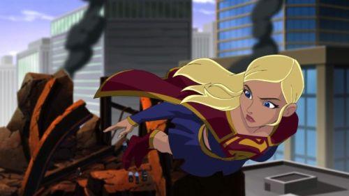 Supergirl Flying Superman Unbound