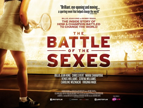 The Battle Of The Sexes quad movie poster