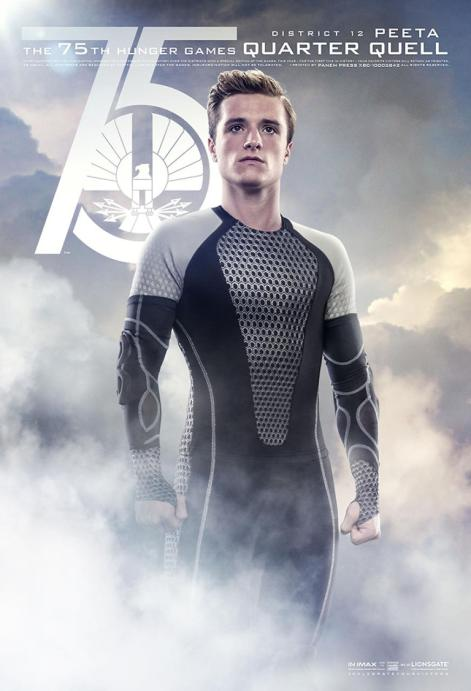 Josh Hutcherson 75th Hunger Games Quarter Quell District 12 Peeta movie poster