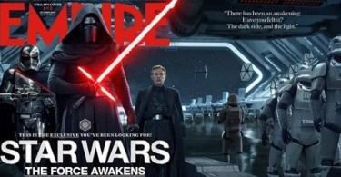 Gwendoline Christie Adam Driver Domhnall Gleeson Empire Star Wars: The Force Awakens