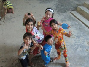 Kids being kids in Kirkuk Church Courtyard
