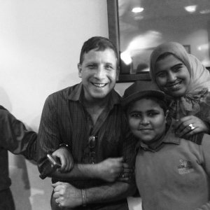 Scott with new friends at the Alexandria Museum in Egypt