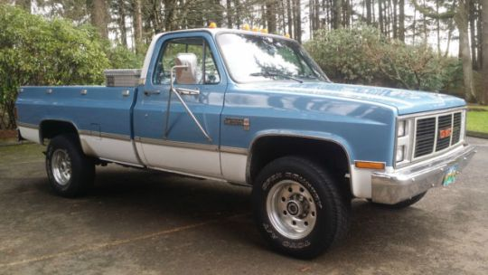 GMC Sierra 2500 truck 1987 Blue and white For Sale     For sale  1987 GMC Sierra 2500