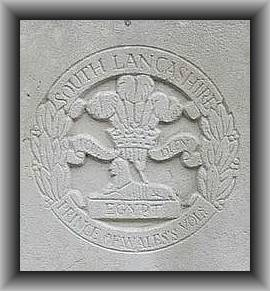 South Lancashire Regiment with border