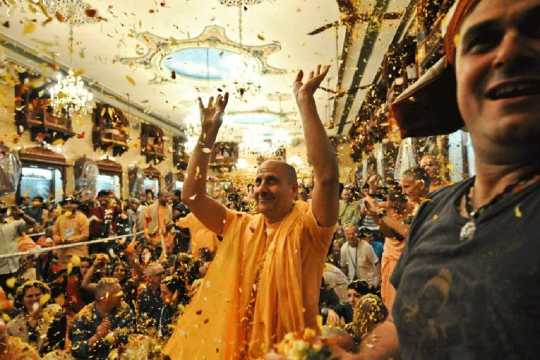 Radhanath Swami and Gaura Vani at Flower Festival
