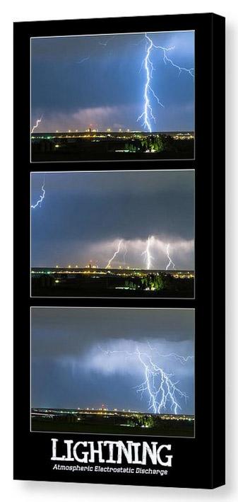 Lightning - Atmospheric Electrostatic Discharge Canvas Print
