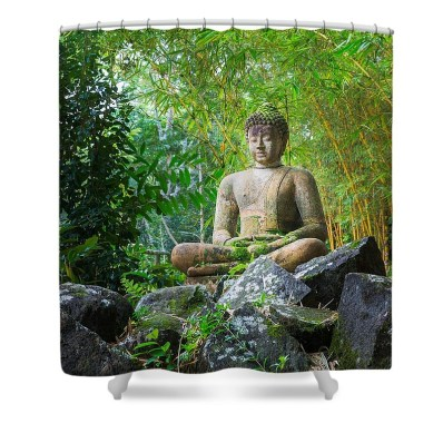 sale of Buddha image on shower curtain on Fine Art America FAA