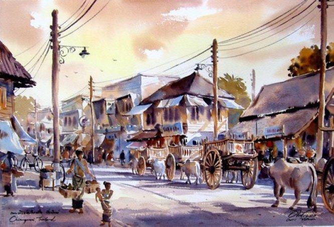 market-watercolor