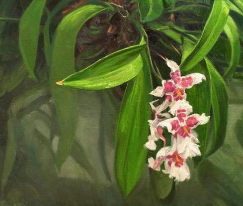 orchid-leaf-painting