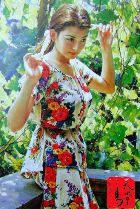 beautiful-chinese-girl-painting