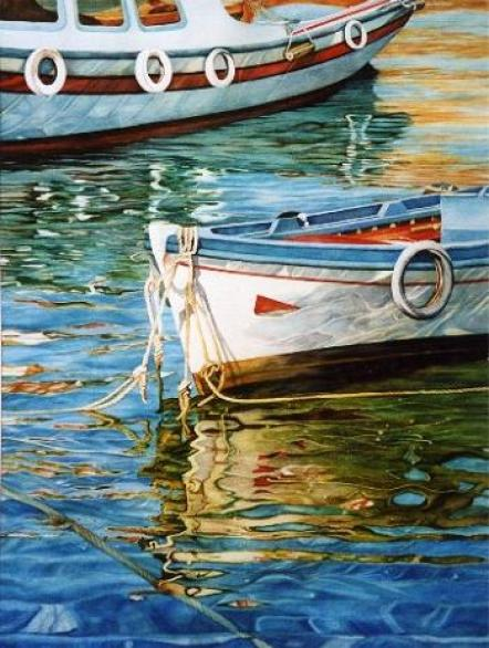 watercolor-painting-boat
