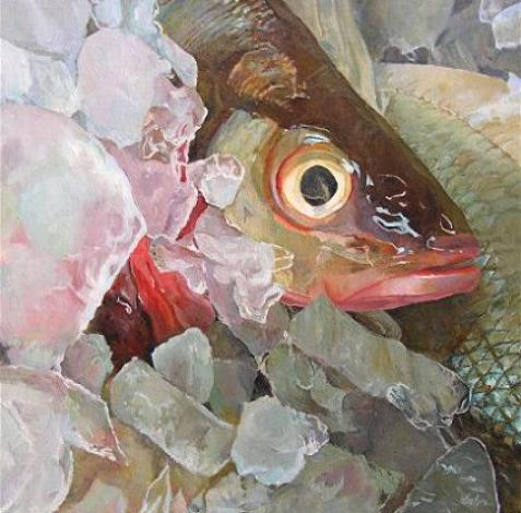 Oil and watercolor paintings by artist elaine hahn fine for Fish eyes in paint