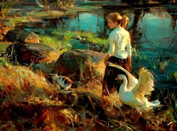 girl-swan-painting