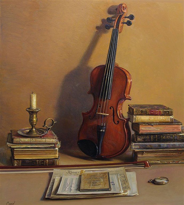 paintings of violin
