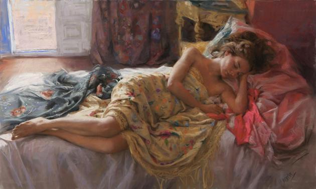 female-pastel-paintings
