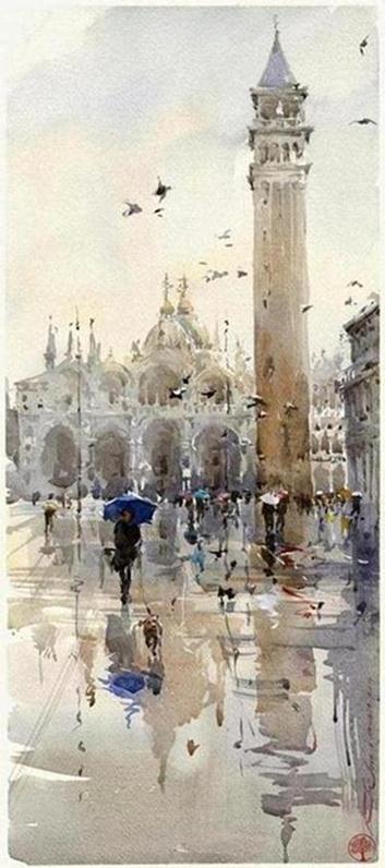 architecture-watercolor