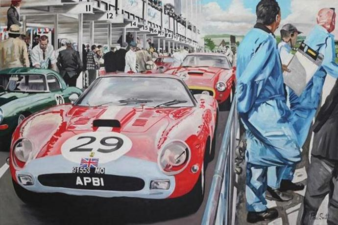 Realistic Classic Car Paintings By UK Artist Paul Smith