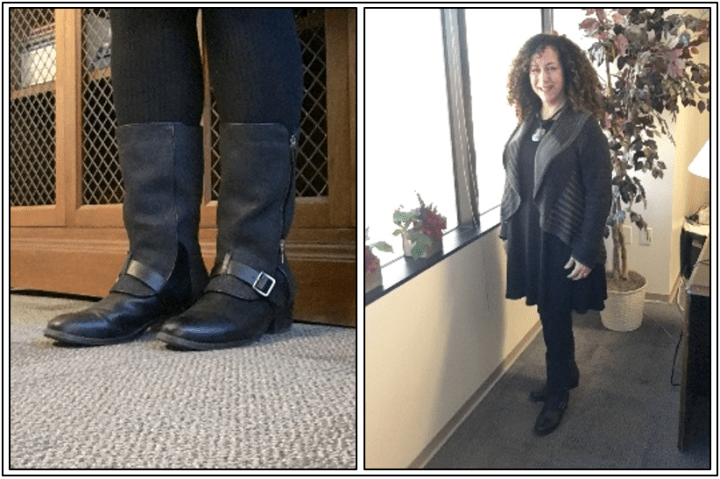 Day 14 - mid-calf boots with contrast fabric spats