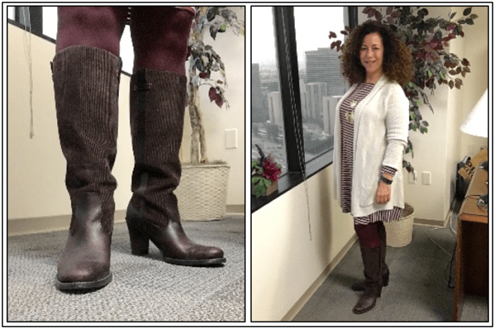 Day 22 - brown boots with corduroy shaft