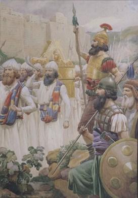 Joshua Taking Jericho (The Taking of Jericho), by Frank Adams