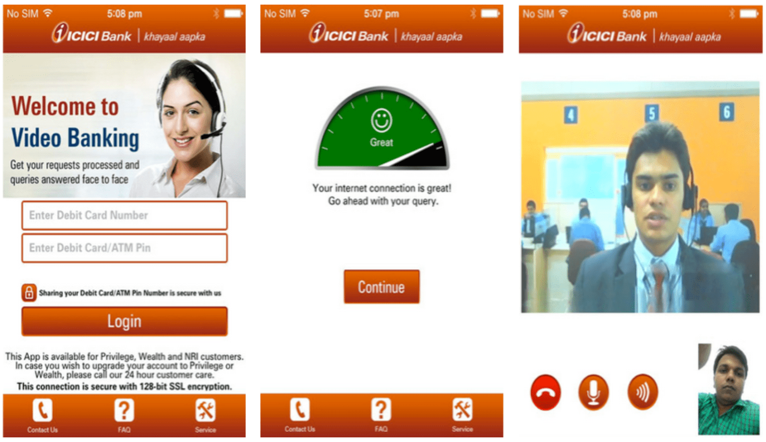 ICICI Bank Video Banking finno