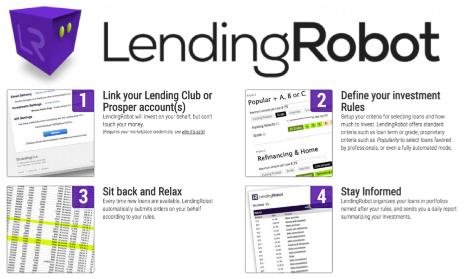 Lendingrobot finno machine based investing in peer to peer lending