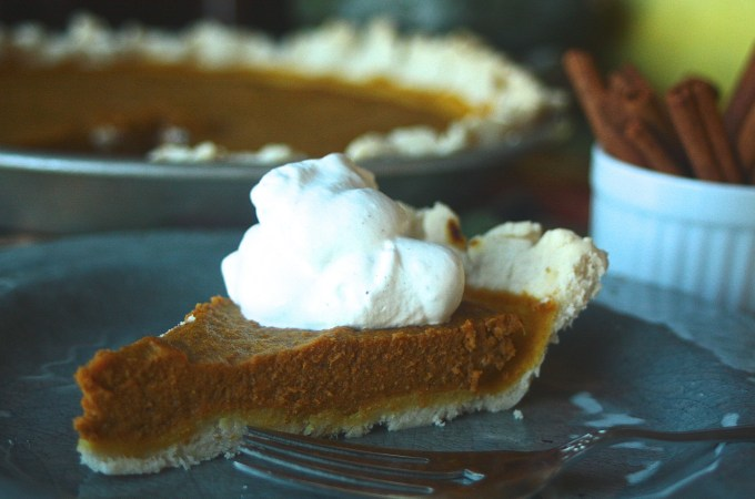 Pumpkin Pie (Dairy and Gluten Free)