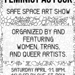 Feminist As Fuck art show flyer, 2015.