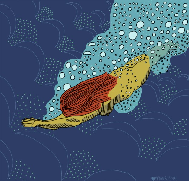 Trust Yourself, the Waves Will Guide You. Pen and ink//digital illustration, 2014.